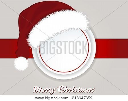 Landscape Christmas Background with Border Copy Space Santa Hat and Decorative Text