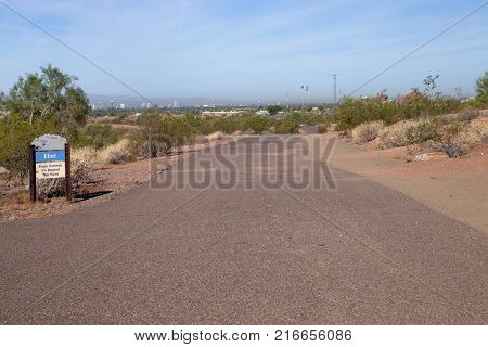 The Eliot trail at Papago Park in Phoenix