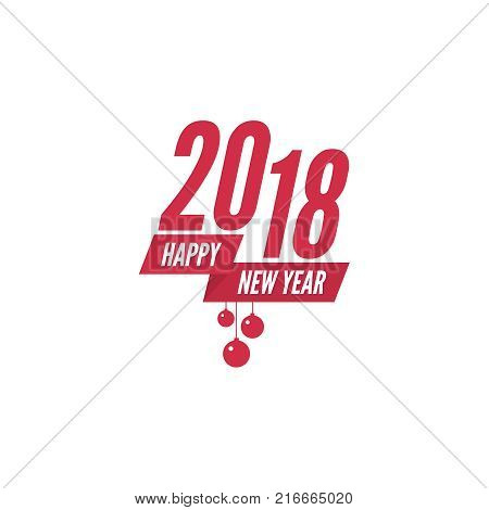 happy new year 2018 theme for greeting card flyer invitation poster