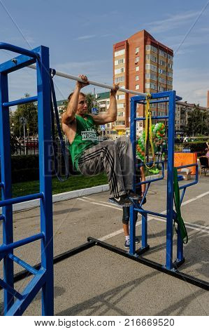 Street Workout Show. Tyumen. Russia