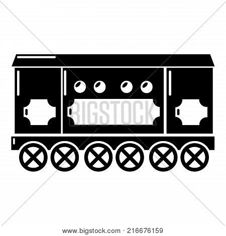 Compartment carriage icon. Simple illustration of compartment carriage vector icon for web