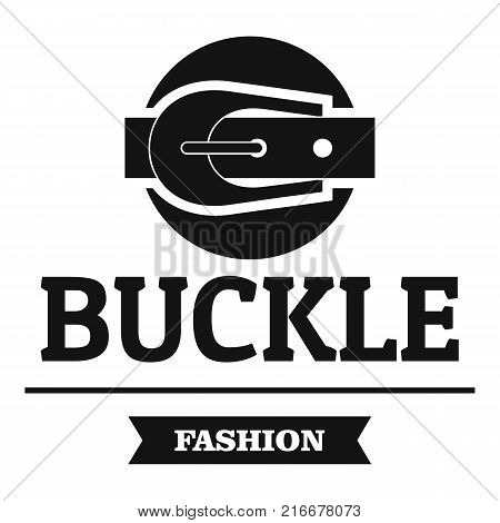Buckle garment logo. Simple illustration of buckle garment vector logo for web