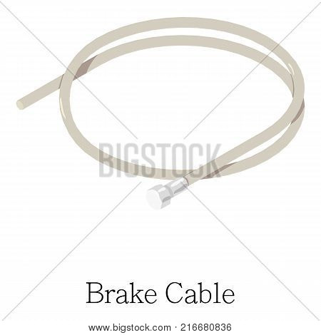 Brake cable icon. Isometric illustration of brake cable vector icon for web