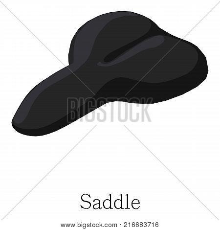 Saddle bicycle icon. Isometric illustration of saddle bicycle vector icon for web