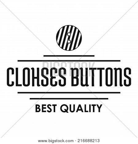 Clothes button accessory logo. Simple illustration of clothes button accessory vector logo for web