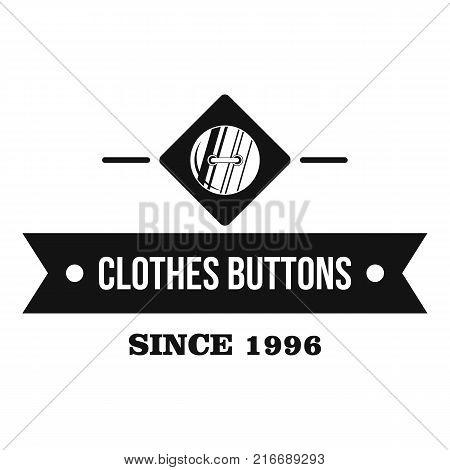 Clothes button element logo. Simple illustration of clothes button element vector logo for web