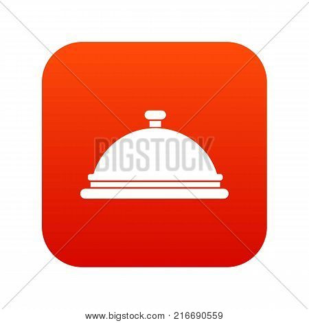 Restaurant cloche icon digital red for any design isolated on white vector illustration