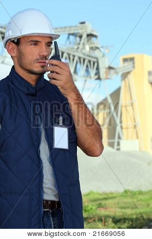 Construction worker on a site
