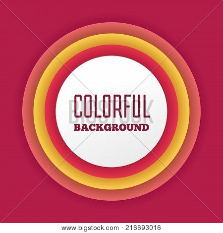 Colorful bright abstract gradient background with text box graphics