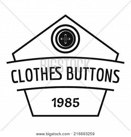 Clothes button dress logo. Simple illustration of clothes button dress vector logo for web