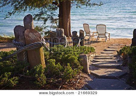 Quiet Beach Setting
