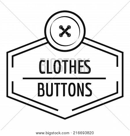 Clothes button craft logo. Simple illustration of clothes button craft vector logo for web