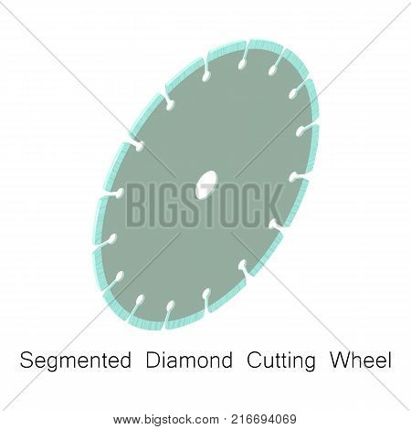 Diamond saw blade icon. Isometric illustration of diamond saw blade vector icon for web