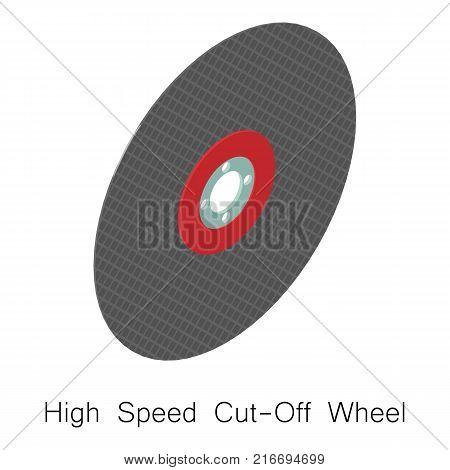 Speed wheel blade icon. Isometric illustration of speed wheel blade vector icon for web