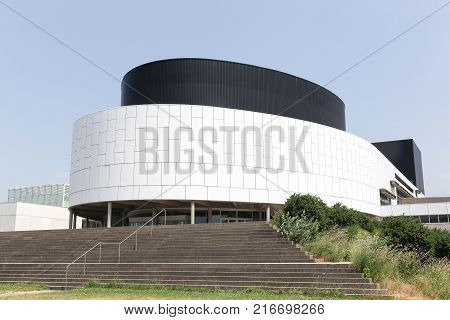 Grenoble, France - June 24, 2017: House of culture building in Grenoble, France. The house of Culture commonly called MC2, is a public venue for public events