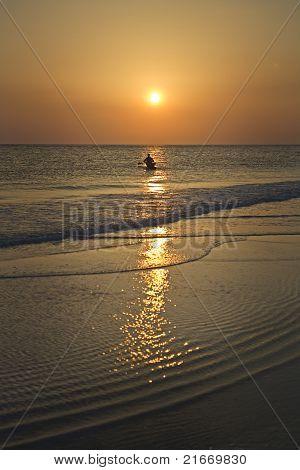 Enjoying Sunset Waters