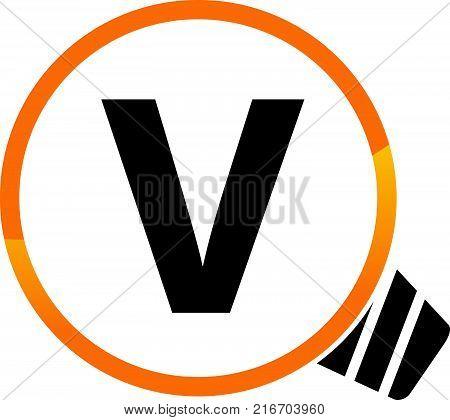 Smart Solution Letter V Logo Design Template Vector