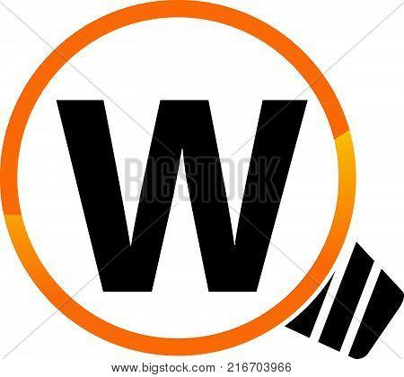 Smart Solution Letter W Logo Design Template Vector