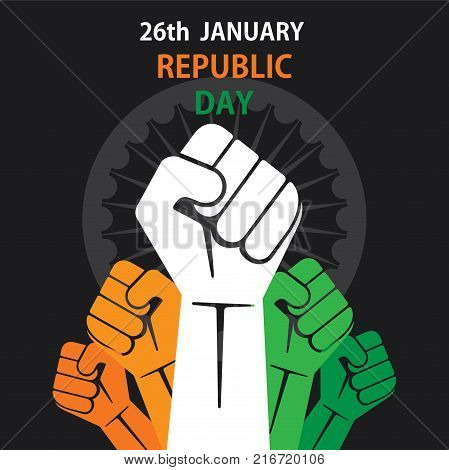 happy republic day of india banner design show power or unity of country