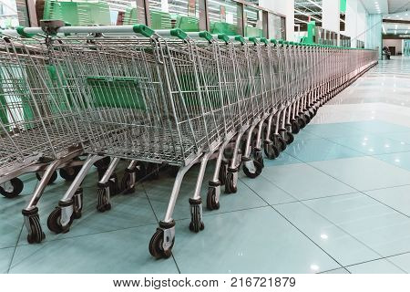 Supermarket Trolley Shopping Consumer Retail Business Concept