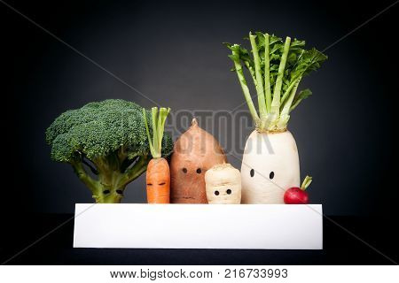 a group of determined vegetables are demonstrating for your cause - be it 'more organic produce', 'no racism', 'eat more vitamins' or 'legalize it', these dudes bring across any message.