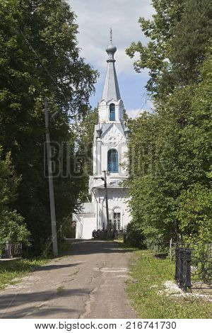 Righteous of Lazar Church on Gorbachev's Cemetery in the city of Vologda, Russia