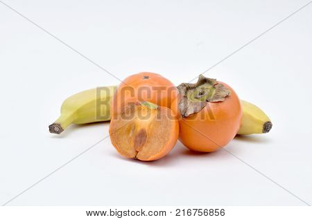 PersimmonBanana wonderful delicious fruitsouthern fruit of orange-red colorsweet and astringent to taste