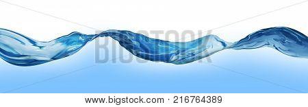 Water Waves Wave Background 3D illustration Nature blue