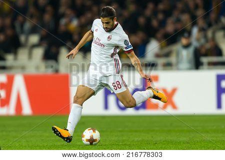 Uefa Europa League Game Between Aek Fc Vs Ac Milan