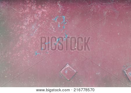 Unusual background with incomprehensible spots and sub-textures, rust. Painted old texture.