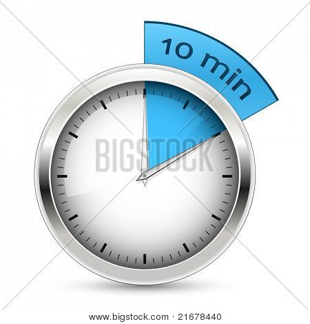 10 minutes. Timer. Raster version