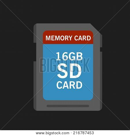 memory sd card for various devices. Vector Illustration