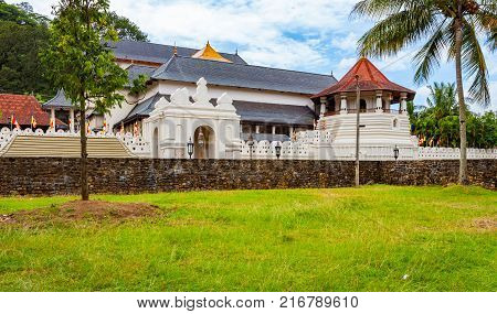 Buddhist Temple of the Tooth Relic in Kandy Sri Lanka