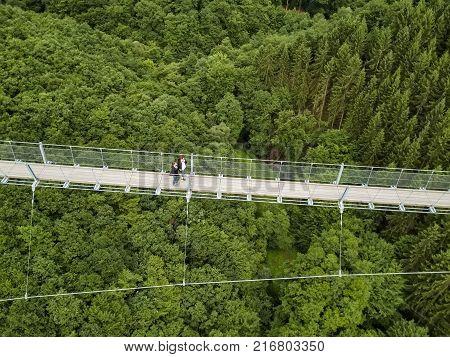 Geierlay Suspension Bridge, Moersdorf, Germany