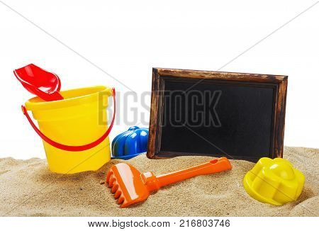 toys for sandbox isolated on white background
