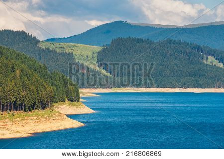 Vidra Lake is located in the Parang Mountains Romania