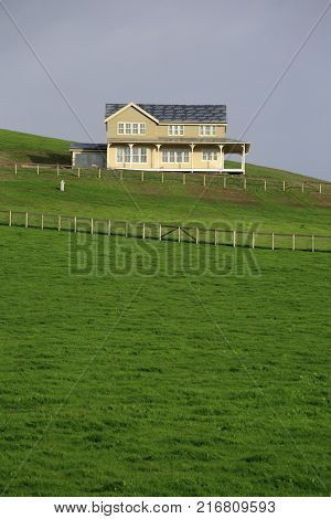 A farmhouse in Point Reyes, near California state route 1