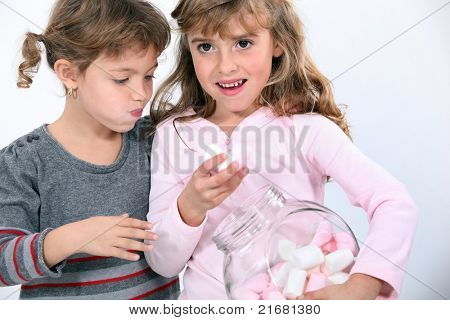 Children with the sweet jar