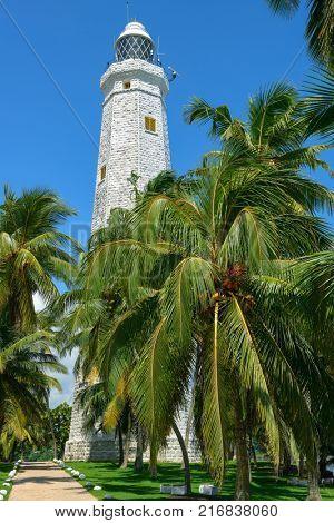 Dondra lighthouse - highest lighthouse on island Sri Lanka, near the city of Matara.