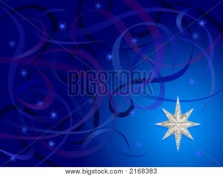 Silver Snowflake Swirls