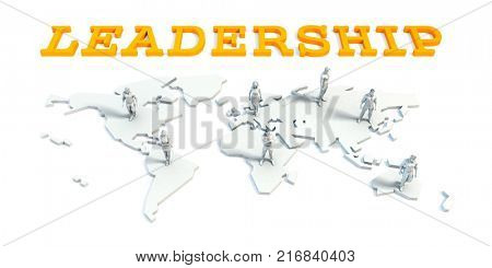 Leadership Concept with a Global Business Team 3D Render
