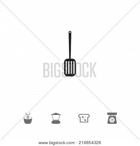 Set Of 5 Editable Cooking Icons. Includes Symbols Such As Food Libra, Stir, Mixer And More