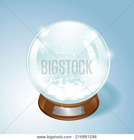 Christmas Snow globe with the falling snow. EPS10 vector.