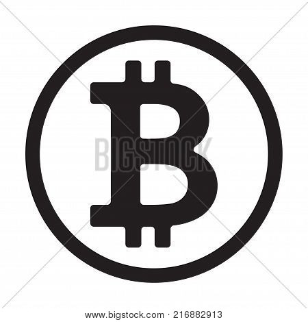 Coin sign icon for internet money. Crypto currency symbol and coin image for using in web projects or mobile applications. Blockchain based secure cryptocurrency. Isolated vector illustration.