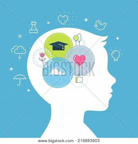 Emotional Intelligence, Feeling and Emotions Concept Vector Illustration.