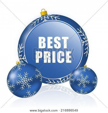 Best price blue christmas balls icon