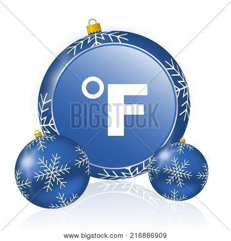 Fahrenheit blue christmas balls icon
