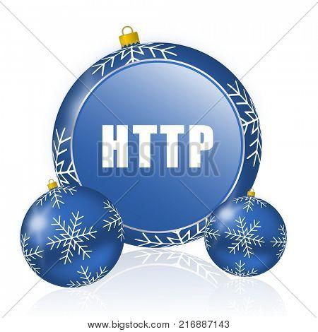 Http blue christmas balls icon