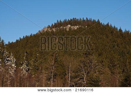 A view of Szczeliniec in Gory Stolowe, Poland
