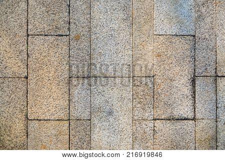 Background of sidewalk of pedestrian walkway using block of non slippy surface stone